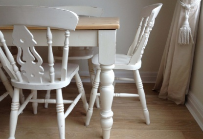hand painted pine table and chairs