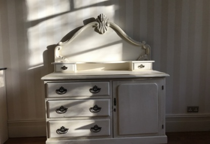 painted dresser with a paint effect finish