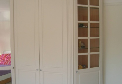 this was a pine wardrobe ,painted using an oil based eggshell