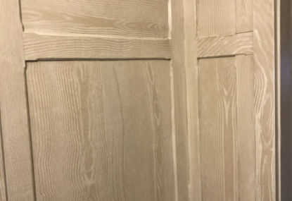cerused oak woodgrain paint effect